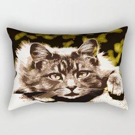 cutout cat Rectangular Pillow