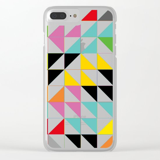 Triangles and Squares III Clear iPhone Case