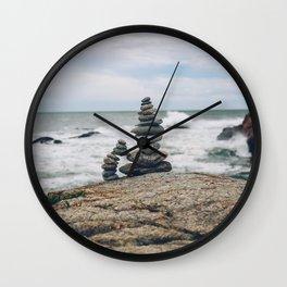 Balance by the Sea Wall Clock
