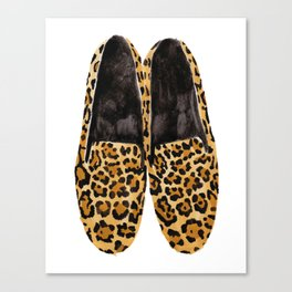 Leopard Loafers Canvas Print