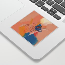 Find Joy. The Abstract Colorful Florals Sticker