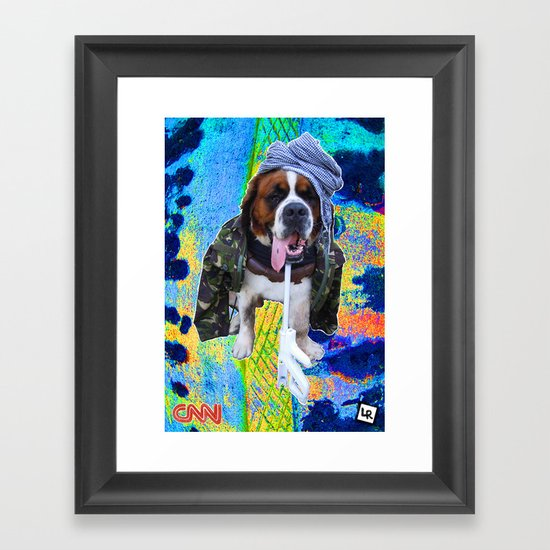 Bin Laden | Addicted to Camouflage Framed Art Print