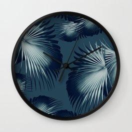 Fan Palm Leaves Paradise #12 #tropical #decor #art #society6 Wall Clock