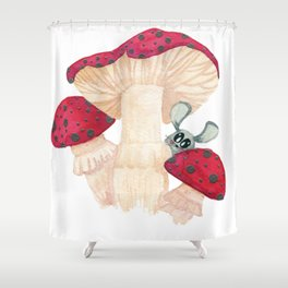 a mouse and his shroom Shower Curtain