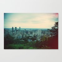 montreal Canvas Prints featuring Montreal  by The voyageuse