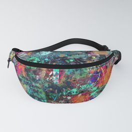 Graffiti and Paint Splatter Fanny Pack