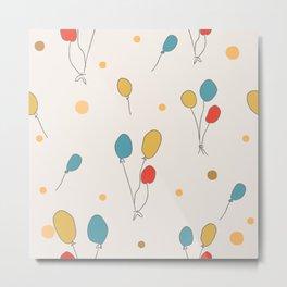 Colorful Balloons Metal Print