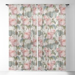 Roses Nostalgie Sheer Curtain