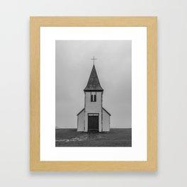 Old Church in Iceland Framed Art Print