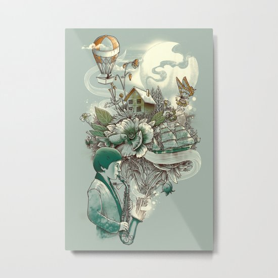 'In Tune with Nature' Metal Print
