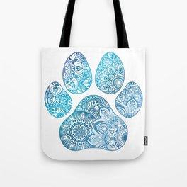 Paw print mandala Tote Bag