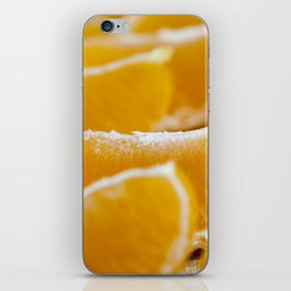 small detached orange iPhone Skin