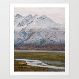 River Flows Art Print