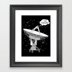 I love stargazing! Framed Art Print
