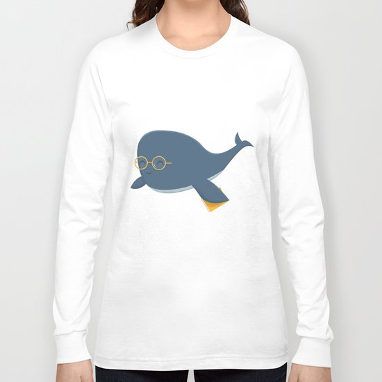 Ms. Whale Long Sleeve T-shirt