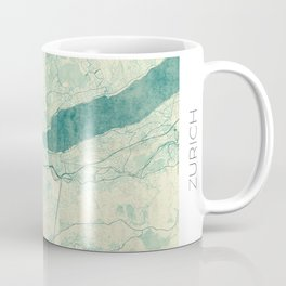 Zurich Map Blue Vintage Coffee Mug