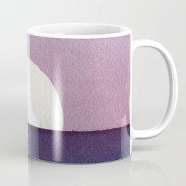 Moonset Watercolor Coffee Mug