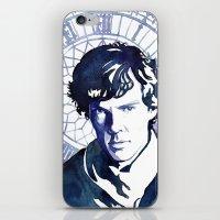 sherlock iPhone & iPod Skins featuring Sherlock by Jackie Sullivan