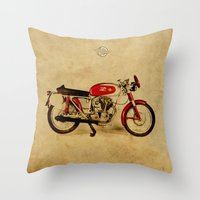 ducati Throw Pillows featuring Ducati Sport 1954 by Larsson Stevensem