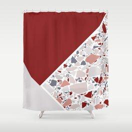 Claret Terrazzo Shower Curtain
