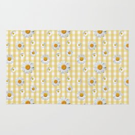 Spring Bloom | Yellow Plaid Rug