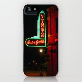 Bar & Grille - Livingston, MT iPhone Case