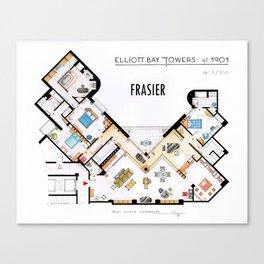Frasier's Apartment Houseplan - V.2 Canvas Print