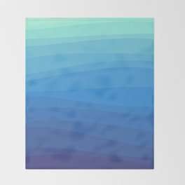 Ocean Waves Gradient Throw Blanket