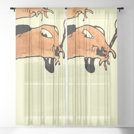 """Paul Klee """" Two fish, two fishhooks, two worms 1901"""" Sheer Curtain"""
