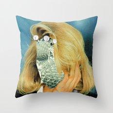 Crazy Woman · Susanne Satellite Throw Pillow