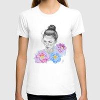 peony T-shirts featuring Peony by Libby Watkins Illustration