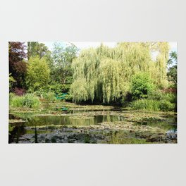 Willow Tree in Monet's Garden  Rug
