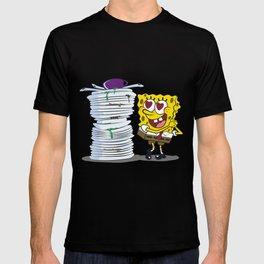 SPONGE BOB AND HIS HOBBY T-shirt