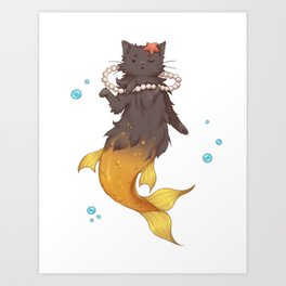 Catmaid Art Print