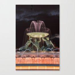 Triton Fountain Valletta 2 Canvas Print
