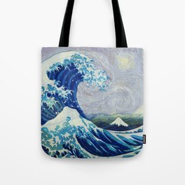 The Starry Night Wave Tote Bag
