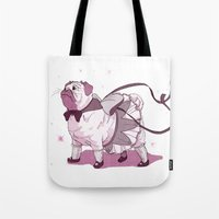 magical girl Tote Bags featuring Magical Girl Pug by Bethan Lientie