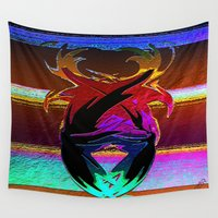 """wings Wall Tapestries featuring """" Wings """"  by shiva camille"""