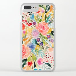 Flower Joy Clear iPhone Case