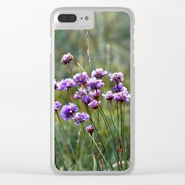 Purple Summer Meadow Clear iPhone Case