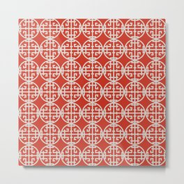 Asian screen - Red Metal Print