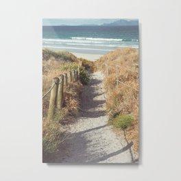 Pathway to Mangawhai Heads Beach Metal Print
