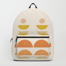 Abstraction_Geometric_Shape_Moon_Sun_Minimalism_018G Backpack