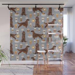 Irish Setter coffee latte dog breed cute custom pet portrait for dog lovers Wall Mural