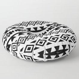 Aztec Stylized Lg Pattern II BW Floor Pillow