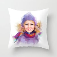 sport Throw Pillows featuring sport by tatiana-teni