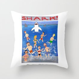 Shark Attack! Throw Pillow