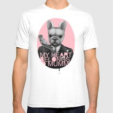 My heart belongs to Mummy Mens Fitted Tee White MEDIUM