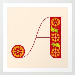 A-Amarilis Art Print