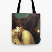 kozyndan Tote Bags featuring Passing Through To the Other Side by kozyndan